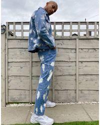The Ragged Priest – Jeans mit geradem Schnitt und Bleichmuster - Blau