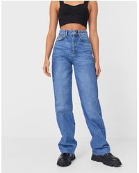 Stradivarius 90s Dad Jean - Blue