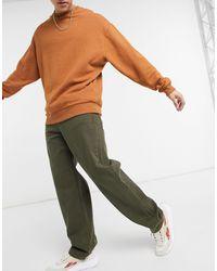 ASOS Ruimvallende baggy Jeans - Groen