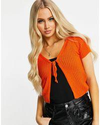 I Saw It First Tie Front Cardigan - Orange
