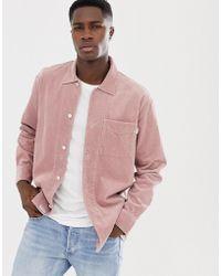 Jack Wills Berton Cord Overshirt In Pink
