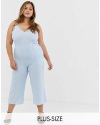 AX Paris Tuta jumpsuit extra ampia - Blu