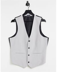 Original Penguin Slim Fit Plain Waistcoat - Grey
