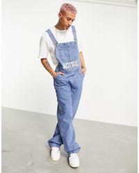 ASOS ASOS Actual – Jeans-Latzhose - Blau