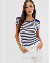 1558965f G-Star RAW - Ringer Retro T-shirt With Stripe - Lyst
