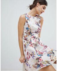 Oasis - Occasion Floral Jacquard Skater Dress - Lyst