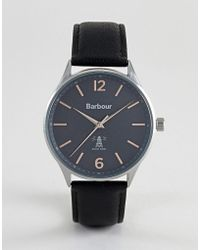 Barbour - Bb079slbk Jesmond Leather Watch In Black - Lyst