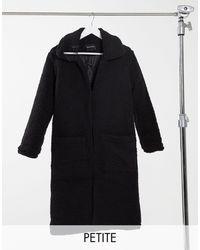 Brave Soul Длинное Пальто Из Искусственного Меха -черный Цвет