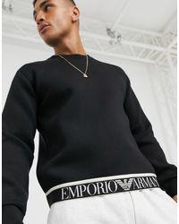 Emporio Armani Черный Свитшот С Круглым Вырезом И Логотипом