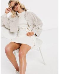 Brave Soul - Платье-джемпер С Завязками -белый - Lyst