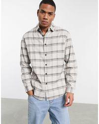 Pull&Bear Camicia a quadri beige - Neutro