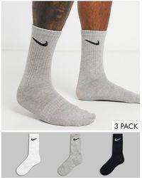 Nike 3 Pack Crew Socks - Multicolour