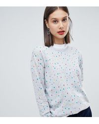 Esprit Multi Polka Dot Sweater - Gray