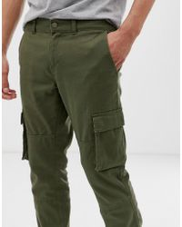Only & Sons Cuffed Cargo Pants - Green