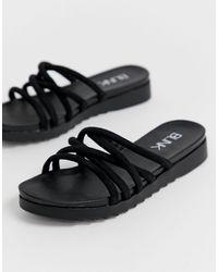 Blink Tubular Mule Flat Sandals - Black