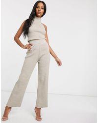 Fashionkilla Knitted Flare Trouser Co Ord - Multicolour