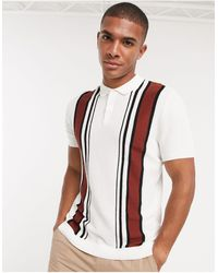 TOPMAN Knitted Polo - White