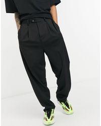 ASOS Pantalon slim élégant à taille haute - Noir
