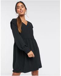 Vero Moda Vestido amplio estilo casual con cuello - Negro
