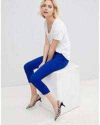 UNIQUE21 - Unique 21 Blue High Waist Trouser - Lyst