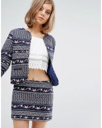 Vanessa Bruno Athé   Vanessa Bruno Athe Quilted Fitted Jacket In Print   Lyst
