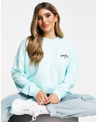 Missguided Playboy Co-ord Logo Oversized Sweat - Green