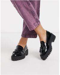 Monki Chunky Platform Loafers - Black
