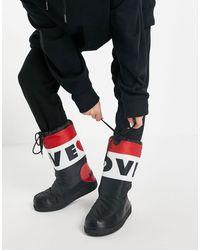 Love Moschino Черные С Красным Зимние Сапоги -черный
