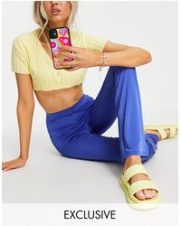 Collusion Slinky legging Flares Co-ord - Blue