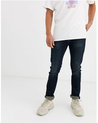 Only & Sons Slim-fit Jeans Met Superstretch Jeans - Blauw