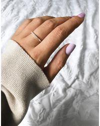 ASOS Ring Van Echt Zilver Met Kristallen - Metallic