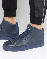 G-Star RAW Stanton High Trainers In Navy - Blue