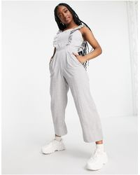 Missguided Jumpsuit With Frill Front - Multicolour