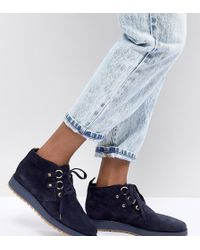 Tommy Hilfiger - Suede Lace Up Ankle Boots - Lyst