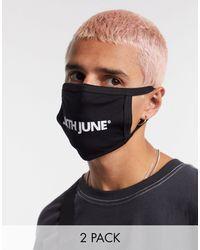 Sixth June – Gesichtsmasken im Doppelpack - Schwarz