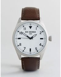 Ben Sherman - Wb074br Watch In Brown Leather - Lyst