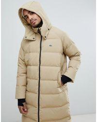 f7fa85538 Schott Nyc 2190max Longline Hooded Puffer Coat Regular Fit In Black ...