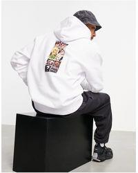 Huf X Street Fighter Ii Arcade Hoodie - White