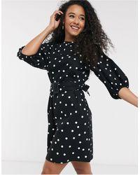 New Look Poplin Belted Mini Dress - Black