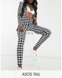 ASOS Asos Design Tall Jersey Jacquard Slim Suit Trouser - Multicolour