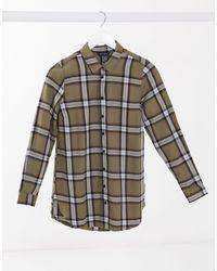 New Look - Клетчатая Рубашка Цвета Хаки -зеленый - Lyst