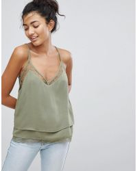 Pepe Jeans - Layered Lace Hem Cami Top - Lyst
