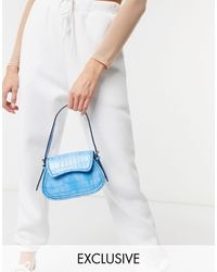 Glamorous Exclusive Curved Mini Grab Bag - Natural