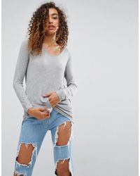 ASOS - Forever T-shirt With Long Sleeve - Lyst