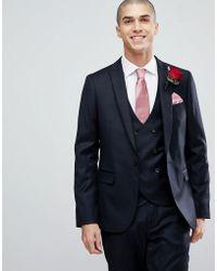 ASOS | Wedding Slim Suit Jacket In Navy Cashmere Blend | Lyst