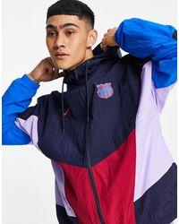 Nike Football Fc Barcelona Panelled Jacket - Blue