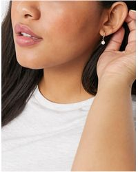 ALDO Dwiediaa Drop Pearl huggy Hoop Earrings - Metallic