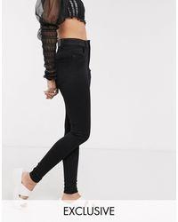 Monki Oki Premium Skinny High Waisted Jeans - Black