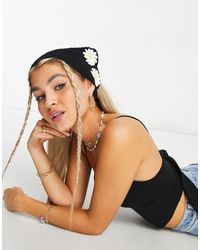 ASOS Crochet Headscarf - Black