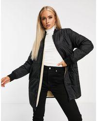 Calvin Klein Двусторонняя Стеганая Утепленная Куртка Черного Цвета -черный